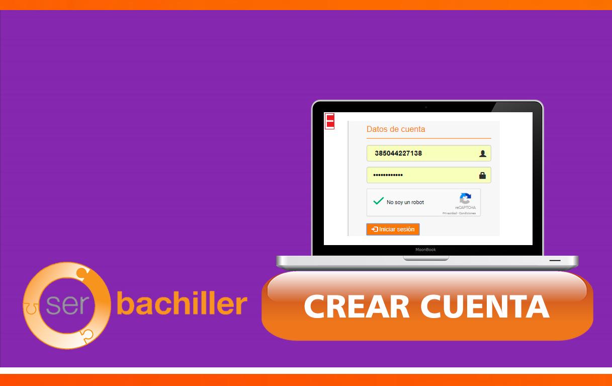 Crear cuenta Ser Bachiller 2019