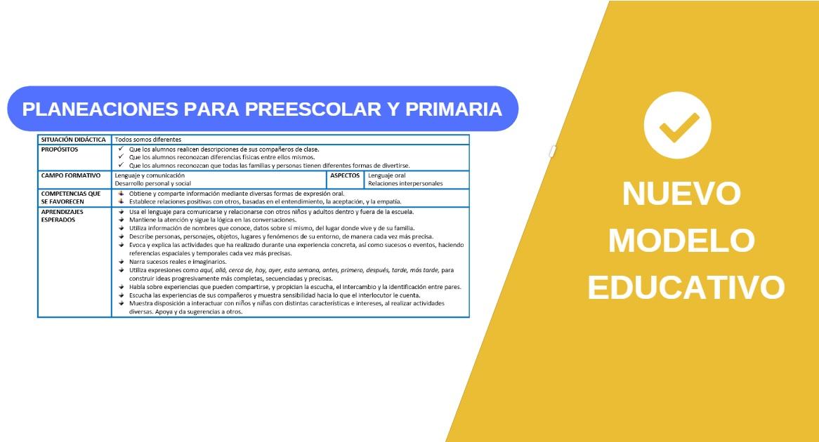 Formatos de planeación del nuevo modelo Educativo