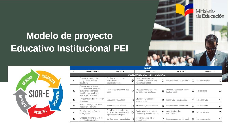 modelo proyecto educativo institucional pei