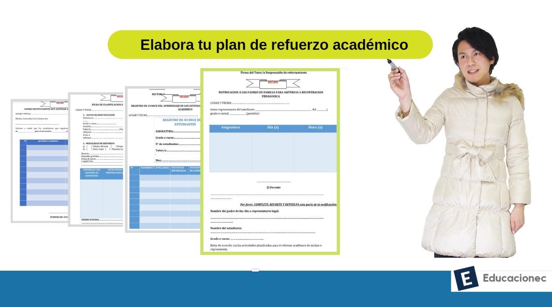 guía para elaborar plan de refuerzo académico