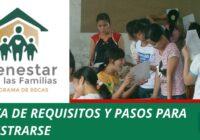 registro beca bienestar para las familias
